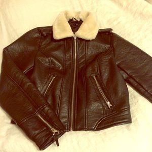 CLOSET CLEAROUT Vintage AE Bomber Leather Jacket